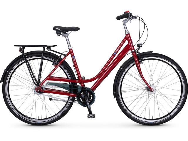 vsf fahrradmanufaktur S-80 Citycykel Wave Nexus 8-växlad RT V-broms röd